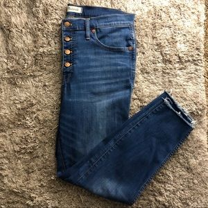 """Madewell 10""""high-rise skinny crop button fly jeans"""
